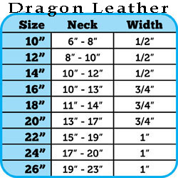 Dragon Skin Leather Dog Collar Sizing
