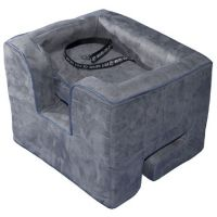 Pet Gear Booster Car Seat - shown in Charcoal