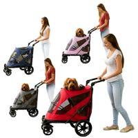 The Excursion No-Zip Pet Stroller comes in your choice of 4 colors