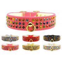 The Mardi Gras Confetti Crystal Dog Collar Collection