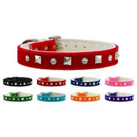 The Velvet Crystal and Pyramid Dog Collar collection