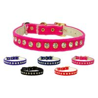 The Velvet and Crystal Cat Collar collection (shown in elastic safety band style)