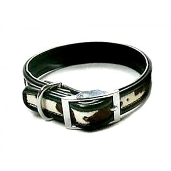 Cheyenne Leather Collar - in Oreo
