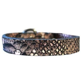 Dragon Skin Leather Dog Collar - in Copper