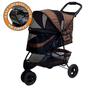 No-Zip Special Edition Pet Stroller - in Choolate