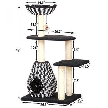 Dimensions of Ace cat furniture
