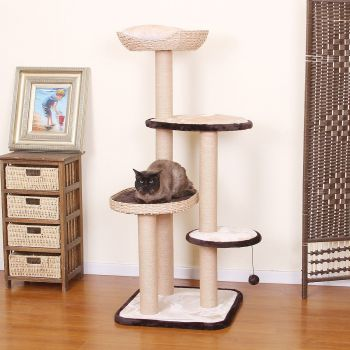 PetPals Cat Treehouse - shown at home